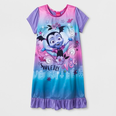 Girls' Vampirina Dorm Nightgown - Purple 6