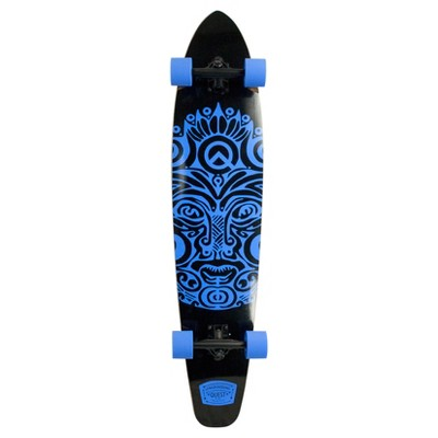 "Quest Super Cruiser ""Karma"" 44"" Longboard Skateboard - Blue/Black"