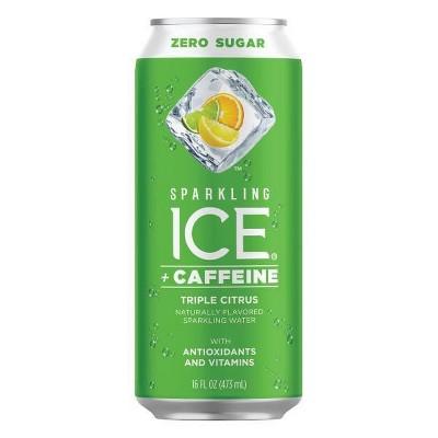 Sparkling Ice +Caffeine Triple Citrus - 16 fl oz Can