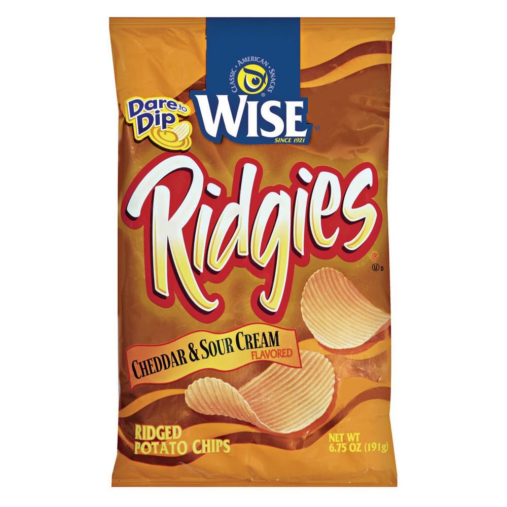 Wise Cheddar Sour Cream Ridgies 6.75oz