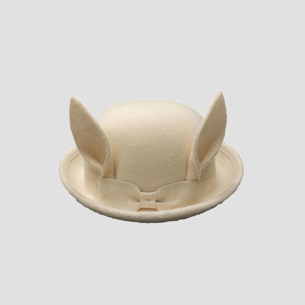 Genuine Kids from OshKosh Toddler Girls' Bunny Ear Hat - Cream (Ivory) 12-24M