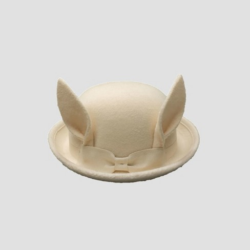 f72e58e9518c Genuine Kids® From OshKosh Toddler Girls  Bunny Ear Hat - Cream 12-24M    Target
