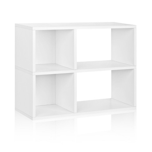 Way Basics 2-Shelf Chelsea Bookcase Storage Shelf, Natural White - Formaldehyde Free - Lifetime Guarantee - image 1 of 8