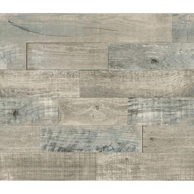 Brewster 9' Coastal Wood Peel & Stick Backsplash Wallpaper  Brown