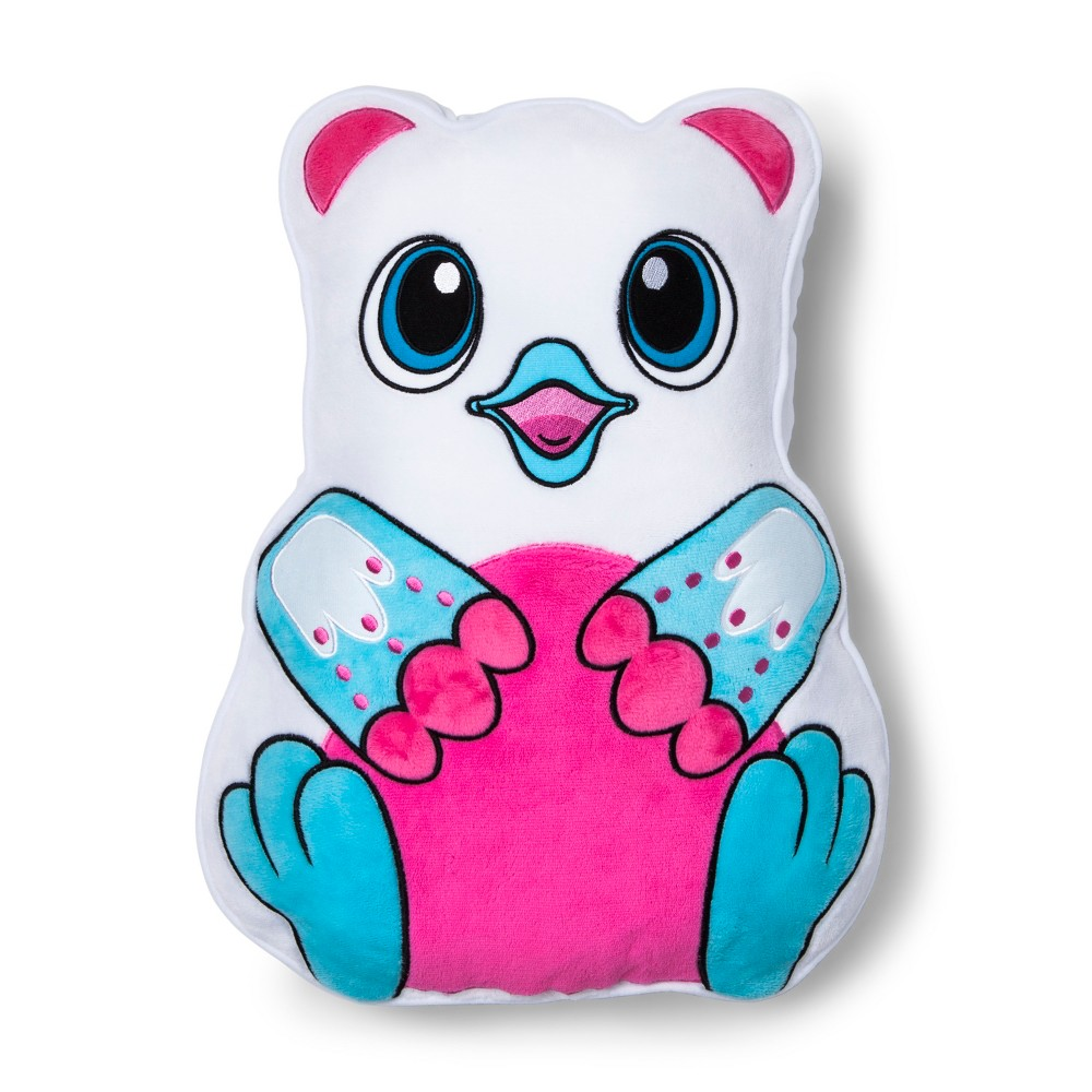 Image of Hatchimals Blue & White Throw Pillow, Blue Pink White
