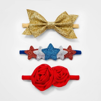 Baby Girls' 3pk 4th of July Headband - Cat & Jack™