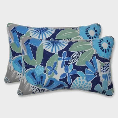 2pk Catching Rays Rectangular Throw Pillows Blue - Pillow Perfect - image 1 of 1