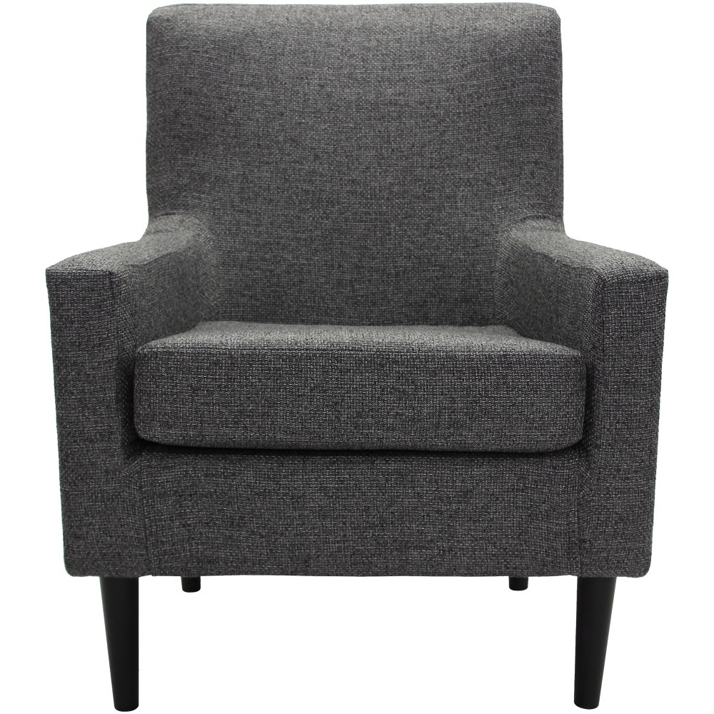 Emma Stain Resistant Accent Chair Dark Gray - Fox Hill Trading