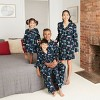 Women's Holiday Hot Air Balloon Print Flannel Matching Family Pajamas Nightgown - Wondershop™ Navy - image 2 of 2
