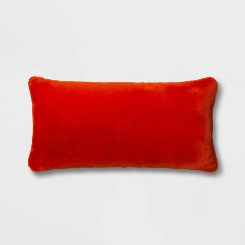 Faux Rabbit Fur Oversize Lumbar Pillow - Project 62™ - image 1 of 4