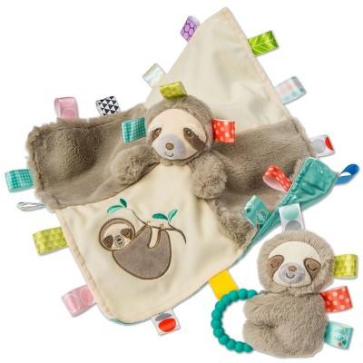 Mary Meyer Taggies Molasses Sloth Blanket & Rattle Set