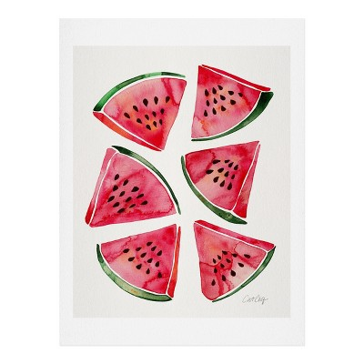 8  x 10  Cat Coquillette Watermelon Slices Wall Art Print Pink - society6
