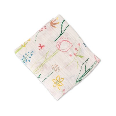 Red Rover Cotton Muslin Single Swaddle - Pastel Petal