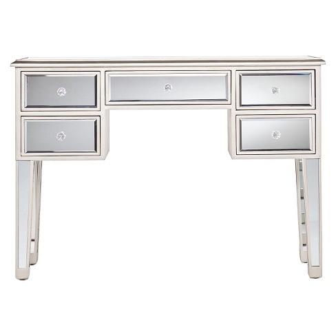 Tobias Mirrored Desk - Silver - Aiden Lane - image 1 of 3