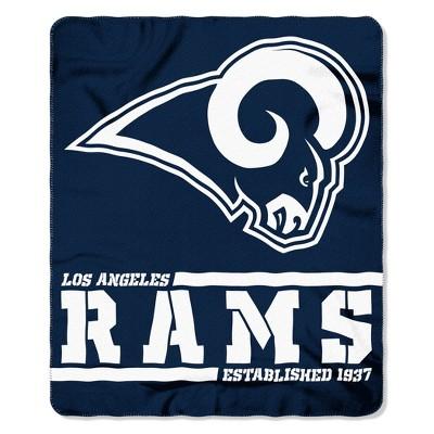 The Northwest Company Los Angeles Rams Fleece Throw , Blue
