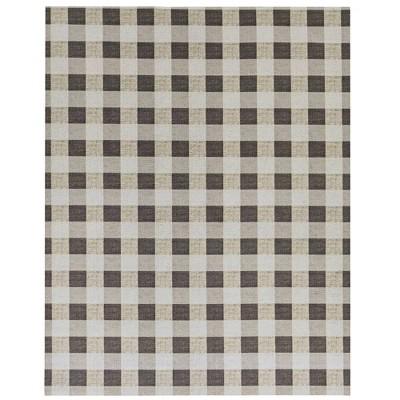 6' x 8' Gingham Outdoor Rug - Foss Floors