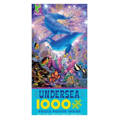 Ceaco Undersea: Dolphin Romance Puzzle 1000pc - image 1 of 1