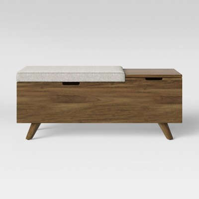 Meller Wood And Upholstered Bench Light Gray - Project 62™
