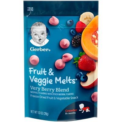 Gerber Fruit & Veggie Melts Freeze-Dried Fruit & Vegetable Snack Very Berry Blend - 1oz