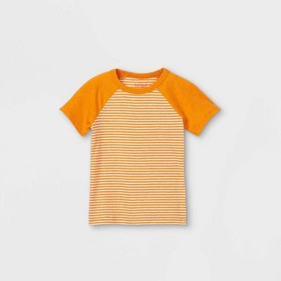 Toddler Boys' Striped Short Sleeve T-Shirt - Cat & Jack™ Orange