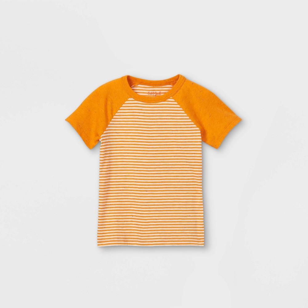 Toddler Boys 39 Striped Short Sleeve T Shirt Cat 38 Jack 8482 Orange 2t