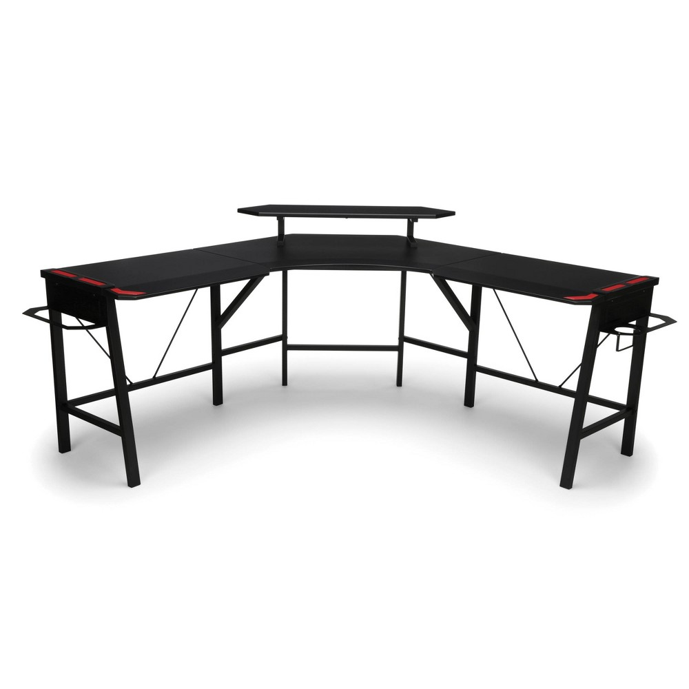 Image of 2010 Gaming L Shaped Computer Desk Red - RESPAWN