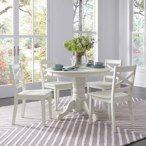5pc Seaside Lodge Round Dining Set White Home Styles Target