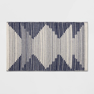 1'8 X2'10 /20 X34  Damask Woven Accent Rug Navy/Off White - Room Essentials™