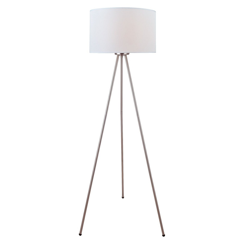 Lite Source Rotary On Off Switch Floor Lamp White
