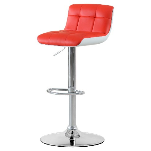 "Adjustable Swivel Leatherette 25"" Barstool Metal - Furniture of America - image 1 of 2"
