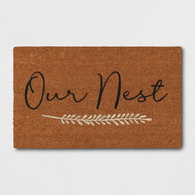 """1'6""""x2'6"""" Our Nest Doormat Natural - Threshold™"""