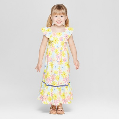 Toddler Girls' Challis Maxi Dress - Cat & Jack™ Yellow 12M