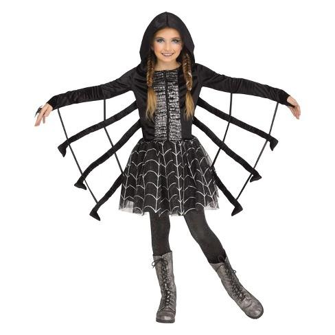 2712fabeccd59 Girls' Sparkling Spider Halloween Costume S