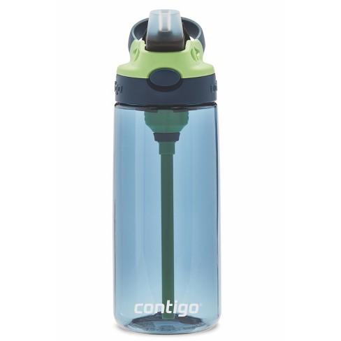 0ab683b8a1 Contigo Autospout 20oz Plastic Kids Straw Water Bottle Blue Green Target