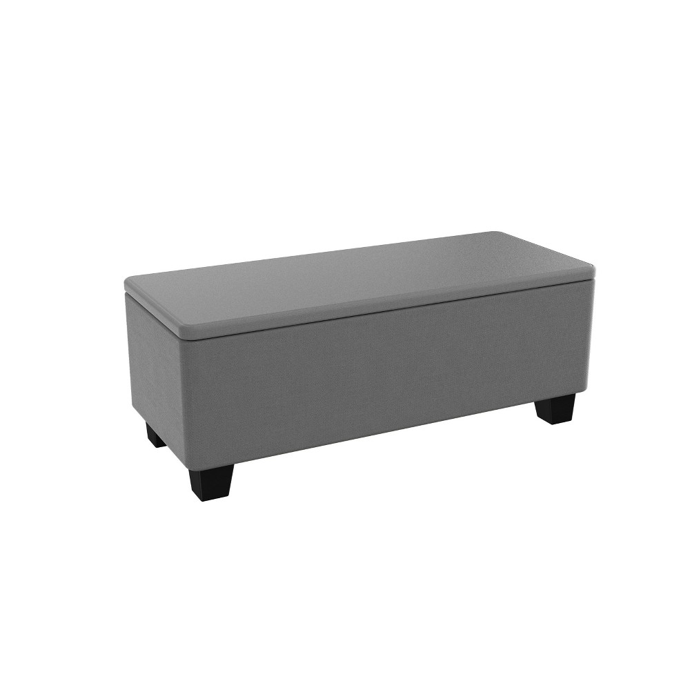 Image of 23gal Milan Outdoor Fabric Covered Storage Bench Deck Box - Keter, Gray