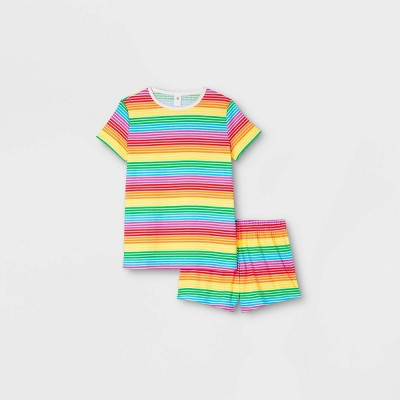 Women's Pride Striped Matching Family Pajama Set - Rainbow