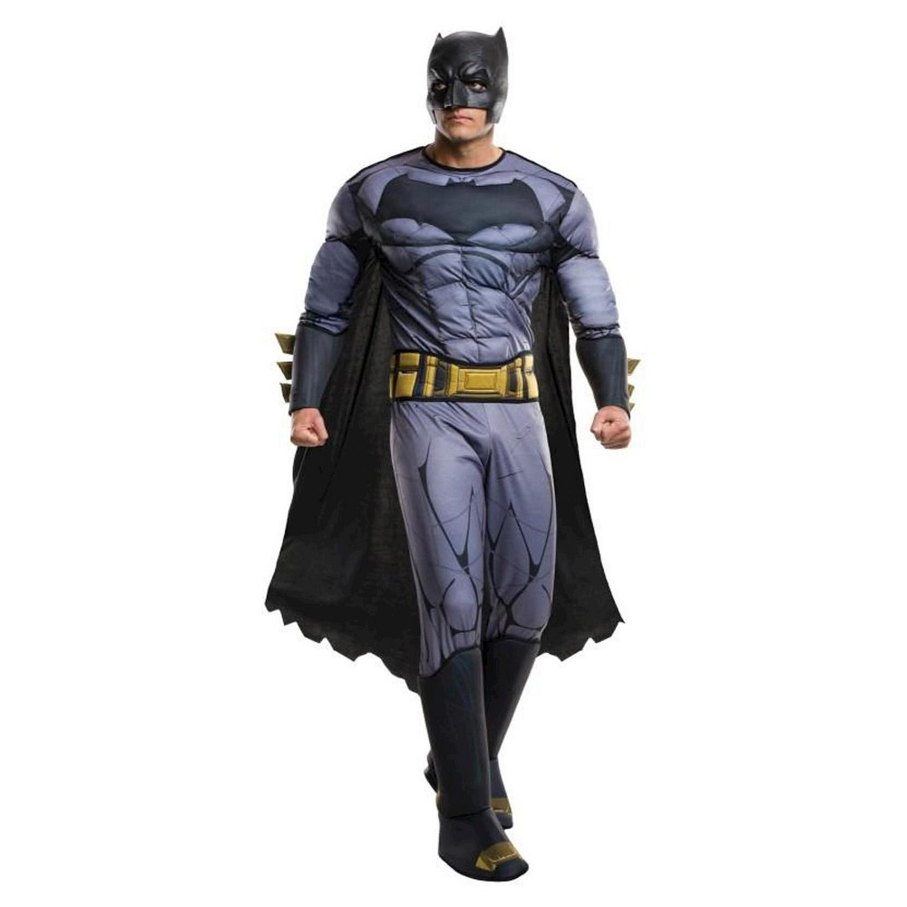 Batman Deluxe Adult Costume Dawn of Justice DC Comics Plus Size, Men's
