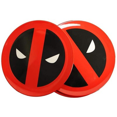 Seven20 Marvel Dead Pool Round Plate 4-Piece Set