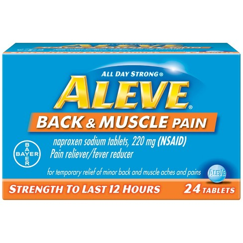 Aleve Back Amp Muscle Pain Reliever Fever Reducer Tablets