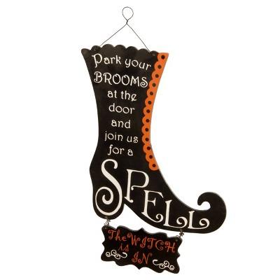 "18"" Halloween Boot Wall Decor"