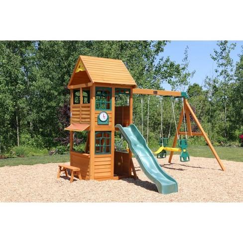 Kidkraft Brooksville Wooden Swing Setplayset Target