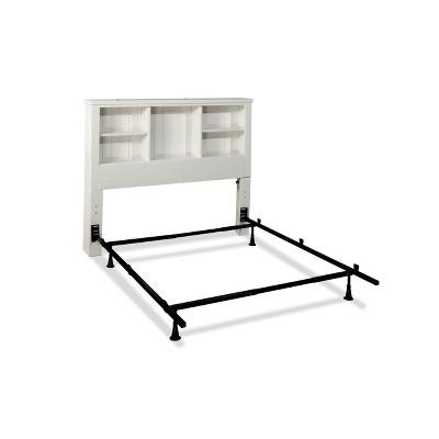 Full Cliffside Bookcase Headboard Metal Frame White - Hillsdale Furniture