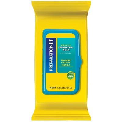 Preparation H Maximum Strength formula Medicated Wipes - 48ct