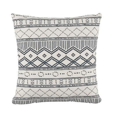 Kuba Square Throw Pillow Blue - Cloth & Co.