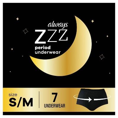 Always ZZZ Overnight Period Underwear - S/M - 7ct
