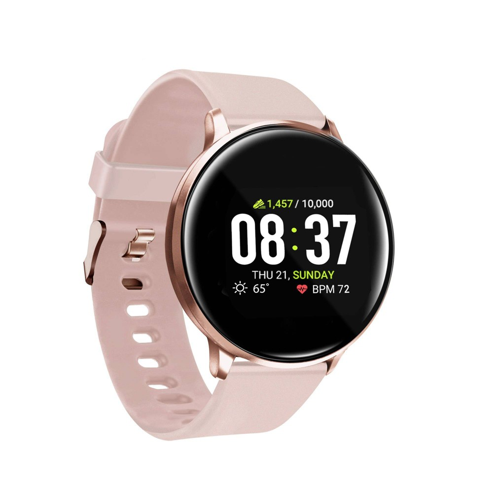 Itouch Sport Fitness Smartwatch 43mm Rose Gold With Blush Band