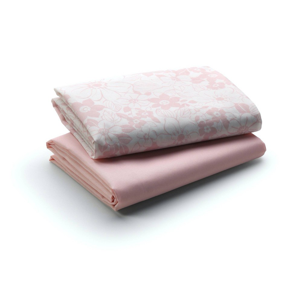 Graco Fitted Playard Sheets Pink 2pk