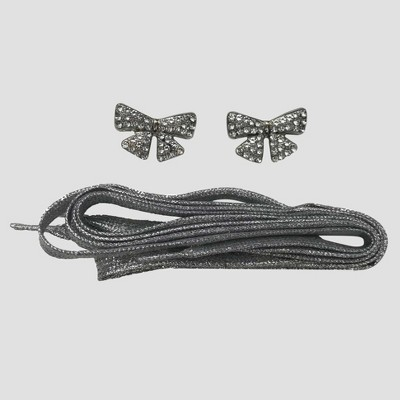 Girls' JoJo Siwa Shoelace with Charms - Gray