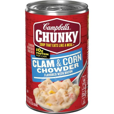 Campbell's Chunky Clam & Corn Chowder with Bacon - 18.8oz