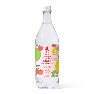 Tropical Cherry Sparkling Water - 1L Bottle - Good & Gather™